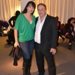 Safiya Aisha con Mario Kirls, backstage, en el 15 EIDA de Amir Thaleb, Buenos Aires, Argentina.
