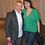 Safiya Aisha con Tony Mouzayek, backstage, en el 15 EIDA Amir Thaleb, Buenos Aires. Argentina